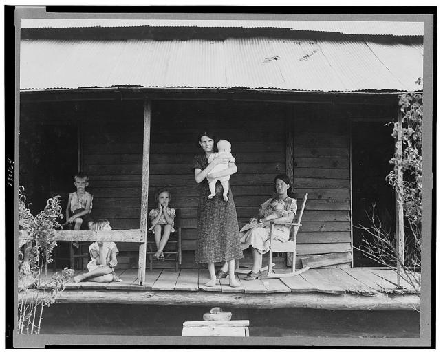 Dorothea Lange, photographer. Cotton sharecropper family. Macon County, Georgia. Georgia Macon County, 1937. July. Photograph. Retrieved from the Library of Congress, https://www.loc.gov/item/fsa2000001577/PP/. (Accessed October 30, 2017.)