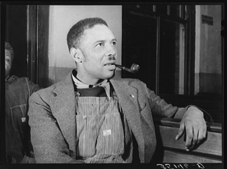 Lee, Russell, photographer. Pomp Hall, Negro tenant farmer. Creek County, Oklahoma. See general caption number 23. Creek County Oklahoma, 1940. Feb. Photograph. Retrieved from the Library of Congress, https://www.loc.gov/item/fsa2000016409/PP/. (Accessed November 06, 2017.)