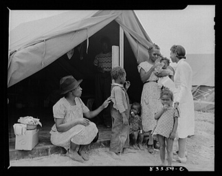 John Collier, Jr, photographer. Bridgeton, New Jersey. FSA Farm Security Administration agricultural workers' camp. The camp nurse making a call. Bridgeton Cumberland County New Jersey United States, 1942. July. Photograph. Retrieved from the Library of Congress, https://lccn.loc.gov/2017823202. (Accessed November 02, 2017.)