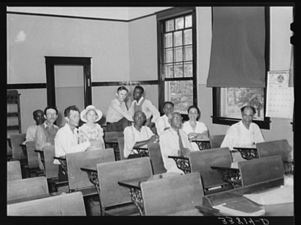 Russell, photographer. Meeting of some members of the Oklahoma tenant farmers' union. Muskogee, Oklahoma. Muskogee Muskogee County Oklahoma, 1939. July. Photograph. Retrieved from the Library of Congress, https://www.loc.gov/item/fsa2000015042/PP/. (Accessed November 02, 2017.)