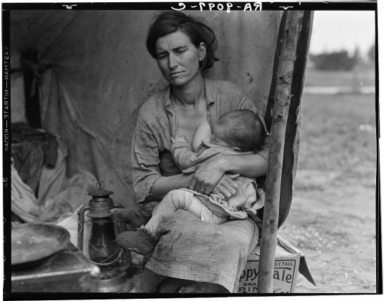 Lange, Dorothea, photographer. Migrant agricultural worker's family. Seven hungry children. Mother aged thirty-two. Father is native Californian. Nipomo, California. California Nipomo San Luis Obispo County, 1936. Feb. or Mar. Photograph. Retrieved from the Library of Congress, https://www.loc.gov/item/fsa1998021556/PP/. (Accessed November 05, 2017.)